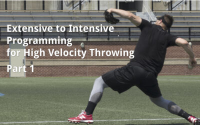 Extensive to Intensive Programming for High Velocity Throwing, Part 1